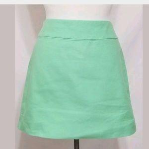 J Crew Womens Green Mini Skirt